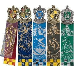 Set 5 puntos de libro casas Hogwarts, Harry Potter
