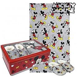 Manta polar Mickey y zapatillas, Disney