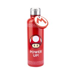 Botella metálica Power Up, Mario Bros