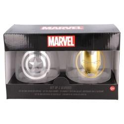 Pack vasos de cristal Vengadores, Marvel