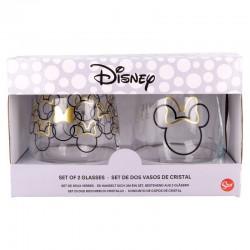 Pack vasos cristal Disney, Minnie Mouse