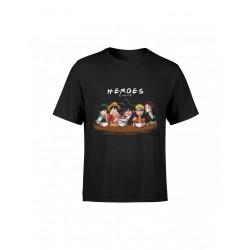 Camiseta Héroes, manga anime