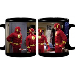 Taza cerámica disfraz flash, Big Bang Theory
