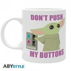 Taza Baby Yoda, Don't push my buttons, The Mandalorian