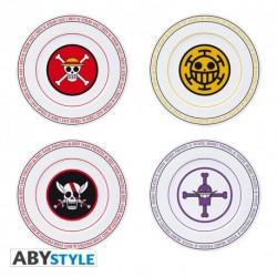 Set 4 platos One Piece