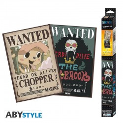 Set 2 posters One Piece Wanted Chopper y Brook