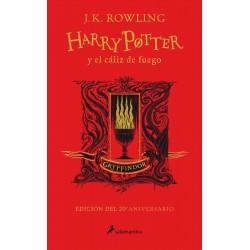 Libro Harry Potter y el cáliz de fuego, 20 Aniversario Ed. Gryffindor