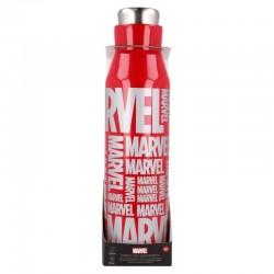 Botella metálica Marvel logo