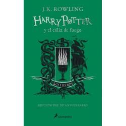 Libro Harry Potter y el cáliz de fuego, 20 Aniversario Ed. Slytherin