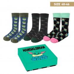 Pack calcetines Baby Yoda 3 piezas, The Mandalorian