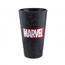 Vaso Marvel logo, cristal