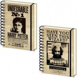 Libreta Harry Potter y Sirius, lenticular