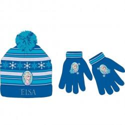 Gorro y guantes Frozen, Elsa