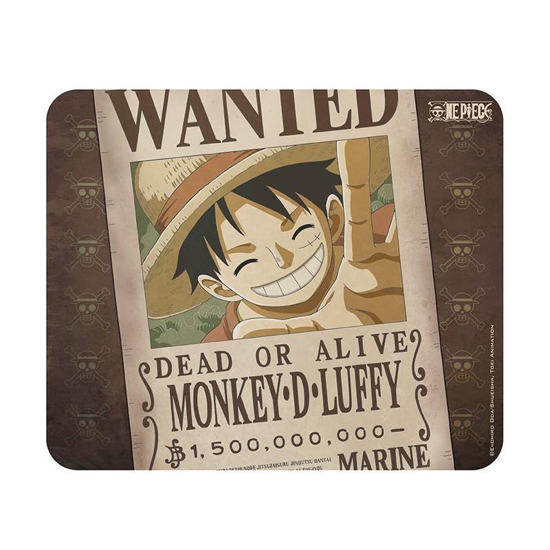 Alfombrilla de ratón Luffy Wanted, One Piece