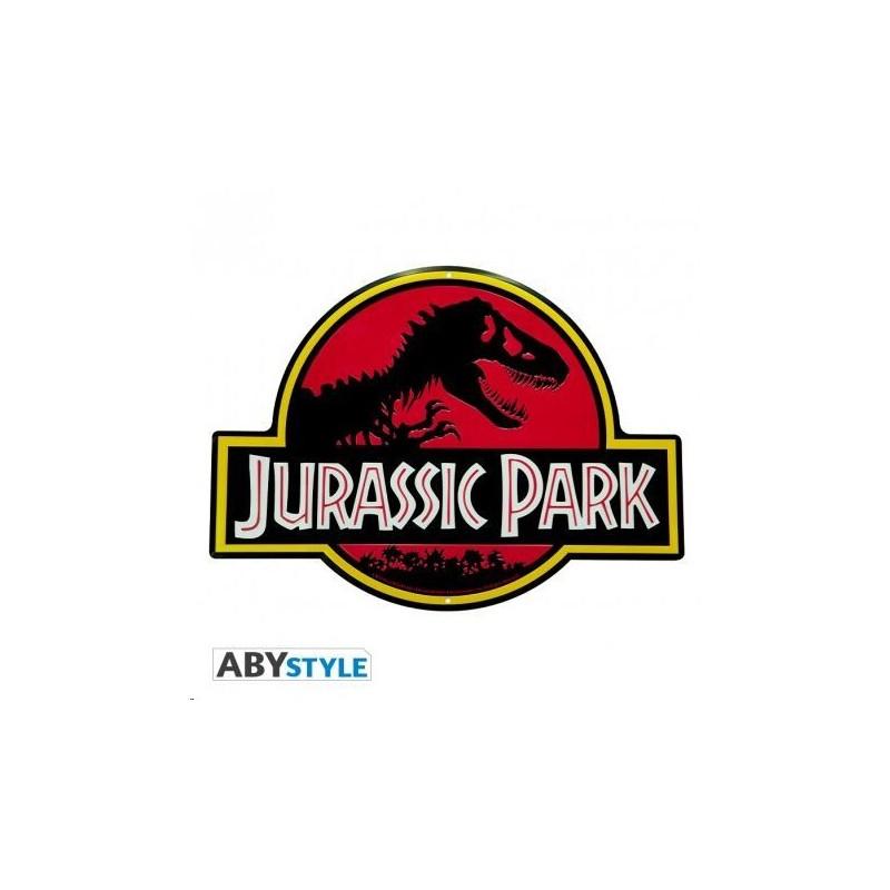 Placa Jurassic Parck metal