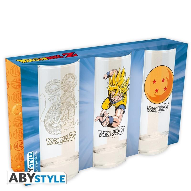 Vasos Dragon Ball, pack 3 vasos