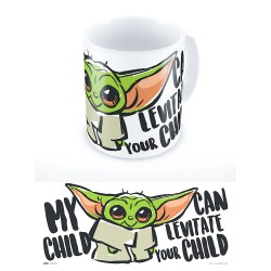 Taza Baby Yoda, My child can levitate your child, The Mandalorian