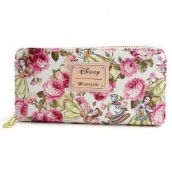 Cartera monedero floral, Bella y Bestia, Disney