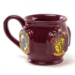 Taza escudos relieve, Harry Potter