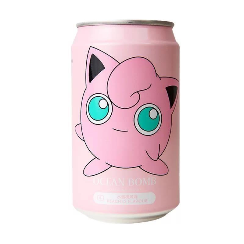 Lata Jigglypuff, Agua Soda Sabor Melocotón, Pokémon