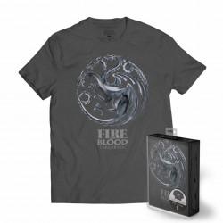 Camiseta Targaryen, chico, escudo metálico, Juego de Tronos