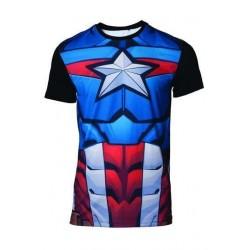 Camiseta Marvel Sublimation Capitán América
