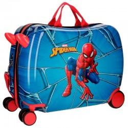Maleta ABS Infantil, Spiderman, 38cm