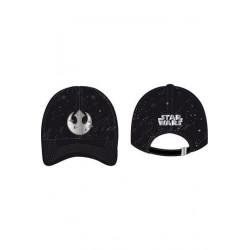 Gorra Galaxy, logo Rebelde plata, Star Wars