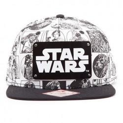 Gorra Cómic blanco y negro, Star Wars