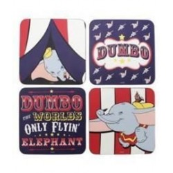 Set 4 posavasos Dumbo, Disney