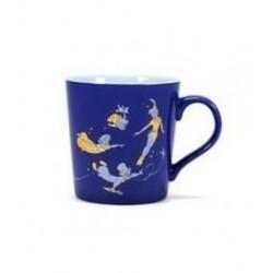 Taza Peter Pan azul y dorado, Disney