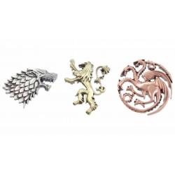3 Pins emblemas casas Juego de Tronos