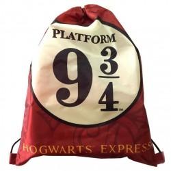 Mochila Saco anbdén 9 3/4, Harry Potter