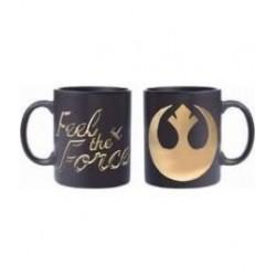 Taza logo Rebelde, negro y dorado, Star Wars