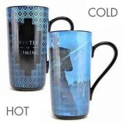 Taza latte, sensitiva calor, Winter is coming Juego de tronos