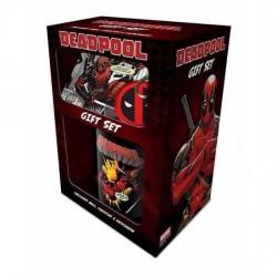 Pack Deadpool taza, llavero y posavasos