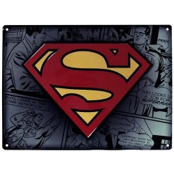 Placa metal SUPERMAN28X38cm