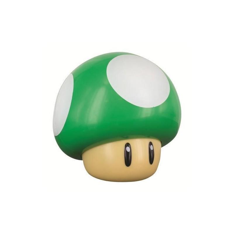 Lámpara Súper Mario seta verde