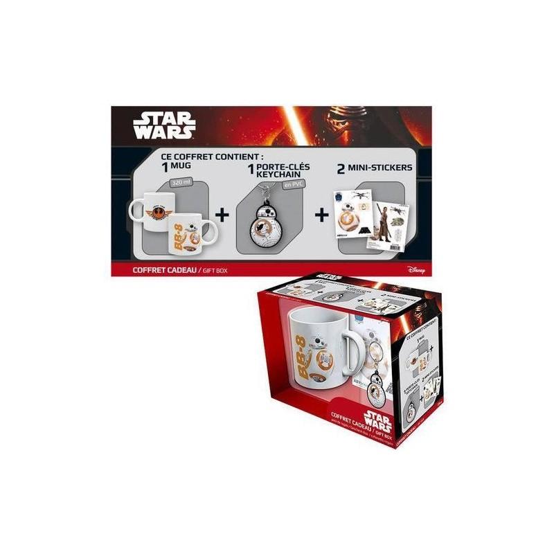 Pack: taza, llavero y pegatinas BB-8, Star Wars