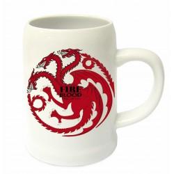 Jarra Targaryen cerámica, Fire and Blood, Juego de Tronos
