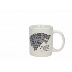 Taza Stark Winter is Coming, cerámica, Juego de Tronos