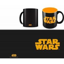 Taza logo naranja taza negra, Star Wars