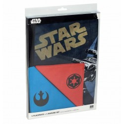 Set 4 Salvamanteles y 4 servilletas Star Wars