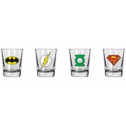 Set 4 vasos de chupito Súper héroes, DC