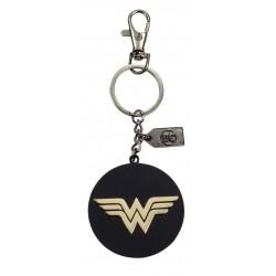Llavero Wonder Woman, metal dorado, 2 caras, DC