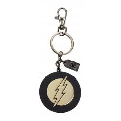 Llavero Flash, metal dorado, 2 caras, DC