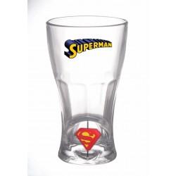 Vaso Superman, cristal emblema giratorio