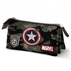 Portatodo Capitán América Army Marvel, triple, Marvel