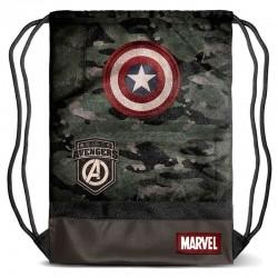 Bolsa Saco, Capitán América Army 48cm, Marvel