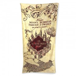 Toalla Mapa del Merodeador, algodón, Harry Potter